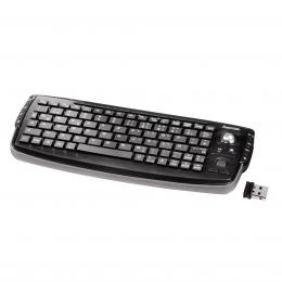 Hama bezdrátová mini klávesnice s trackballem  Live