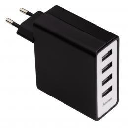 Detail produktu - Hama síťová USB nabíječka, 4zásuvková, 5,1 A