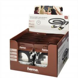 Hama HDMI kabel, 1,5 m, pozlacený, opletený, sáèek - zvìtšit obrázek