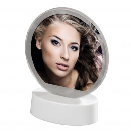 Detail produktu - Hama portrétový rámeček LED, kruhový, 8,2 x 8,2 cm, bílý
