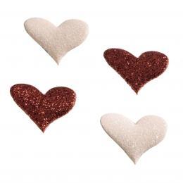 Detail produktu - Hama Heart magnety, třpytivé, 4 ks, červený/růžový