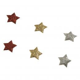 Detail produktu - Hama Star magnety, třpytivé, 6 ks, stříbrný/červený/zlatý