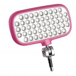 METZ MECALIGHT LED-72 smart pink, LED svìtlo pro smartphony a tablety - barva rùžová