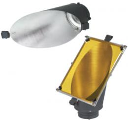 Metz reflektor BG-18 na pozadí s rámem a fóliemi, bajonet Bowens - zvìtšit obrázek