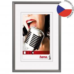 Detail produktu - Hama rámeček hliníkový CHICAGO, šedý, 13x18cm