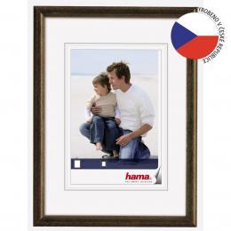 Detail produktu - Hama rámeček dřevěný OREGON, hnědý, 20x30cm