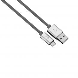 Hama micro USB kabel Color Line, 1 m, antracitový