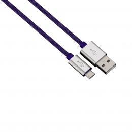 Hama micro USB kabel Color Line, 1 m, modrý