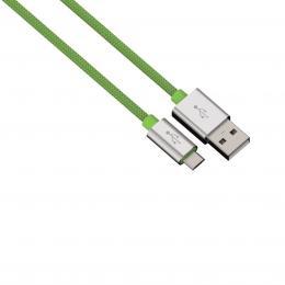 Hama micro USB kabel Color Line, 1 m, zelený