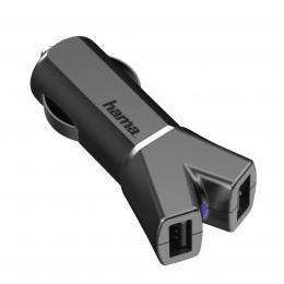 Hama dvojitá USB nabíjeèka do vozidla Color Line, AutoDetect, 3,4 A, titanová