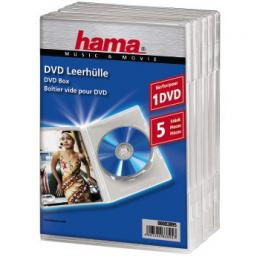 Detail produktu - Hama DVD Jewel Case, 5, transparent