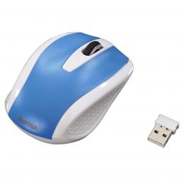 Detail produktu - Hama bezdrátová optická myš AM-7200, bílo-modrá