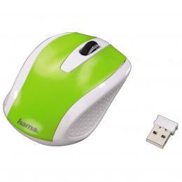 Detail produktu - Hama bezdrátová optická myš AM-7200, bílo-zelená
