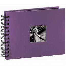 Detail produktu - Hama album klasické spirálové FINE ART 24x17 cm, 50 stran, lila