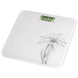 Detail produktu - Xavax osobní digitální váha Liliana, bílá s lilií