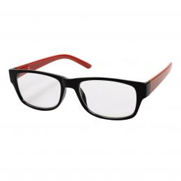 Filtral ètecí brýle, plastové, èerné/èervené,  2.5 dpt
