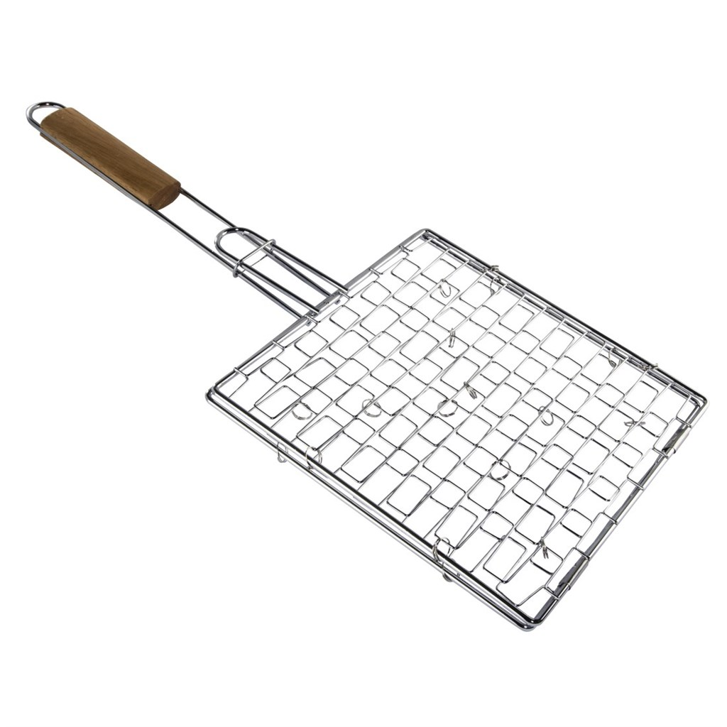 Xavax grilovací rošt s døevìnou rukojetí, 25 x 25 cm