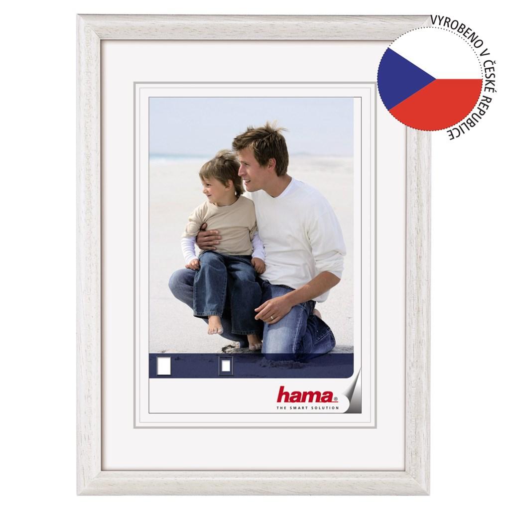Hama rámeèek døevìný OREGON, bílý, 20x30cm