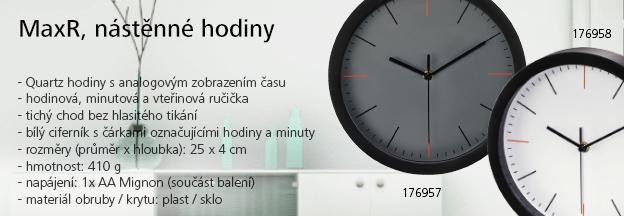 MaxR, nástìnné hodin